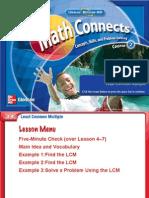 Lesson 4.8 - Least Common Multiple