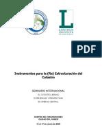 Instrumentos Para La Reconstruccic3b3n Del Catastro