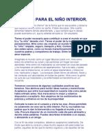 CARICIAS PARA EL NIÑO INTERIOR