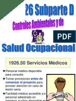 Salud Ocupacinal y Controles Ambientales Subparte d