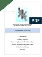 Instalaciones Industriales - U5-A1 - Cimentación