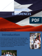 Chile Linguistic Differences