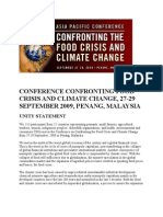 Conference Confronting Food Crisis and Climate Change[1]