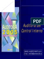 A. Auditoria Del Control Interno