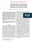 Compact Analytical Model of Dual Material Gate Tunneling Field Effect Transistor using Interband Tunneling and Channel Transport