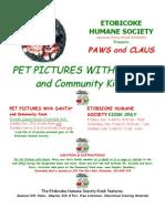 Get your Seasonal Pet Pictures through Etobicoke Humane Society