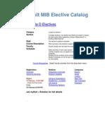 Hult Elective Catalog 2014 MIB 20140204