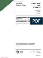 ABNT - NBR - IEC 60079-14