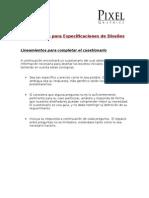 Cuesionario para Especificaciones de Diseños