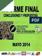 Conclusiones y Propuestas Comisiones Encuentro 17 de Mayo 2014