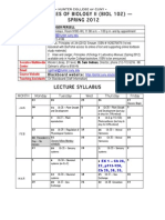 Bio 102 Syllabus