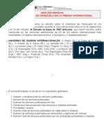 Análisis Mensual Medios Internacionales y Venezuela