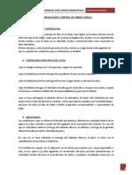 Planificación y Control de Obras Civiles