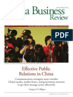Effective Public Relations in China[1]