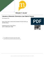 Literatura y Distorsión. Entrevista a JGV
