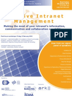 Effective Intranet Management - making the most of information, communication and collaboration capabilities