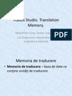 Crearea Memoriei de Traducere (MT)
