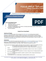 FG Toolkit - Sample Focus Group Report
