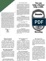 Shriners Info Sheet
