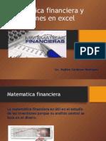Matematica Financiera y Aplicaciones en Excel