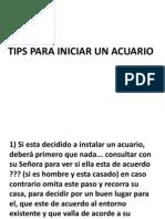 Tips Para Acuarios
