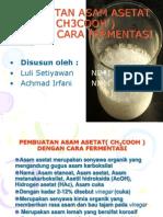 fermentasi asam asetat