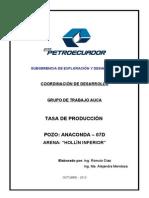 Justificativo Tasa de Producción ANACONDA-07D HI FINAL