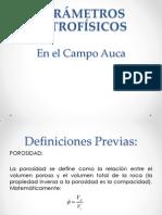 1PARÁMETROS PETROFÍSICOS reservorios