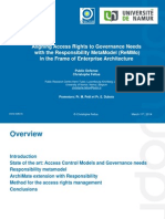 Aligning Access Rights to Governance Needs With the Responsibility MetaModel (ReMMo) in the Frame of Enterprise Architecture