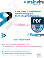 Case Study For Web Portal for Controlling Pot Operations