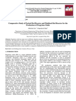 Comparative Study of Packed Bed Reactor and Fluidized Bed Reactor for the Production of Propylene Oxide