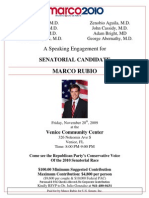 Marco Rubio Event in Venice, FL on Nov 20, 2009