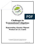 Representing Absentee Migrant Workers in U.S. Courts (Global Workers Justice Alliance, 2008)
