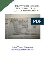 La Increible y Triste Historia de La Ley 4 de La Universidad de Sonora Mexico (1)
