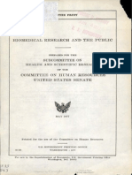 Biomedical Research and the Public 1977