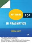 Key Terms in Pragmatics p. 1 to 60