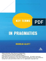 Key Terms in Pragmatics p. 1 to 60