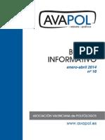 Boletín nº 16 (Enero-Abril 2014)