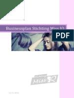 Businessplan Stichting Miss IQ 2014