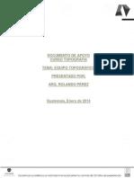 Documento de Apoyo 1. Equipo Topografico, Enero 2014