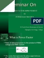 Seminar on Power Factor Improvement on Power Electronics