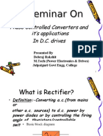 Seminar on Phase Controlled Converters & It's Application in Dc Drives With Closed Loop Control