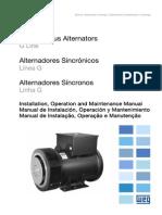 WEG Alternadores Sincronos Linha g 10680382 Manual Portugues Br