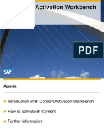Overview BI Content Activation Workbench