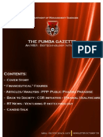 The PUMBA Gazette October '09 Edition