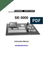 Se3000manual_vedio Switcher Mannual