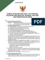CPNS - Kumpulan Materi Dan Soal Tata Negara, Falsafah Dan Ideologi, Sejarah, UUD 1945, dan Pengetahuan Umum