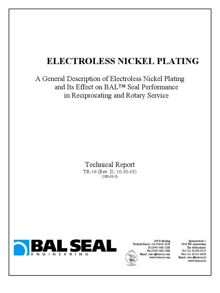 Electroless Nickel Plating   Heat Treating   Stainless Steel
