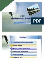 OM#05 - Manajemen Kualitas