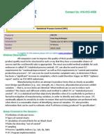 Webinar On Statistical Process Control